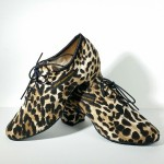 517L-5 Leopard dance shoes, TEACHING & PRACTICE dance shoes