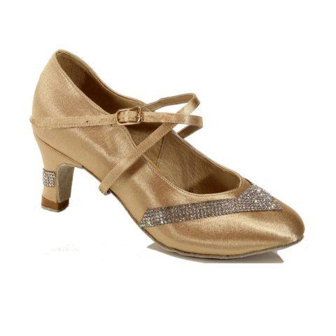 Women Standard ballroom dance shoes with rhinestone 4112