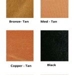 our satin color selections available